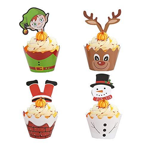 Homo Trends, decorazioni natalizie per torte, 36 pezzi, decorazioni natalizie e 36 decorazioni per torte natalizie, decorazioni per torte natalizie, decorazioni per torte e feste