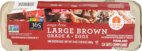 365 Everyday Value, Cage-Free Large Brown Grade A Eggs, 12 CT