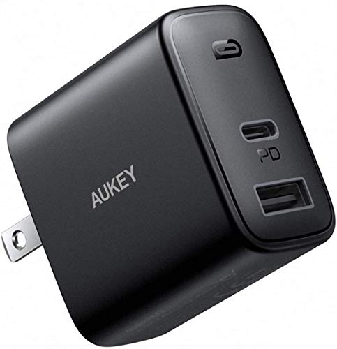 AUKEY Swift USB C Charger, 30W 2-Port Fast Charger Compatible with iPhone 12/12 Mini/12 Pro Max, USB C Wall Charger with Foldable Plug, PD Charger for iPhone 11 Pro Max, iPad Pro, AirPods Pro