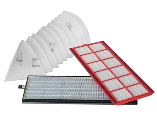 Sparhai24 Zehnder 400100084 Lot de filtres d'origine pour ComfoAir 350/550 1 filtre G4 / F7 + 10 filtres coniques de rechange DN 125