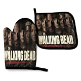 walking dead bbq - The Walking Dead Heat Resistant Oven Mitts and Pot Holders SetsMulti-purposeKitchen Mittens Gloves for Reusable for BBQ Cooking,Grilling and BBQ Decorative Baking Kitchen Gift