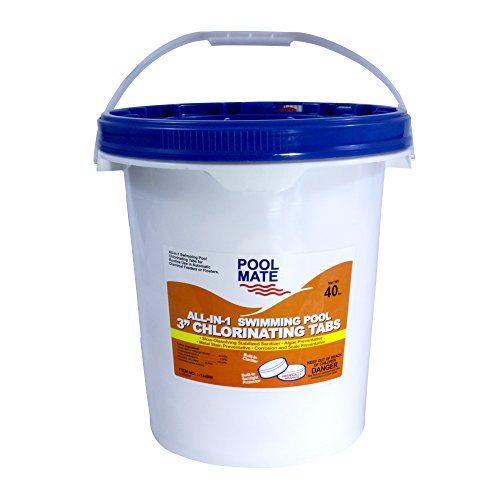Pool Mate 1-1440M All-in-1 Swimming Pool 3-Inch Chlorine Tabs, 40-Pounds