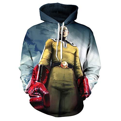 TANGNIU Buntes Muster, Das Langärmliges Tunnelzug-Taschen-Sweatshirt des Hoodie 3D Druckt, Das Neutrale Männer Und Frauen Weihnachtstagesgeschenkstrickjacke Verdickt AA-2700 Comic-M