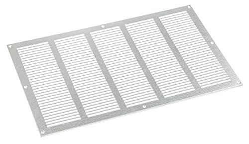 Haeusler-Shop - Rejilla de ventilación galvanizada (500 x 300 mm, con rejilla de protección contra insectos)