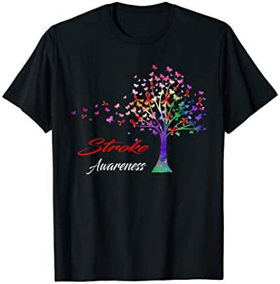Tree Ribbon Stroke Awareness T Shirt product image