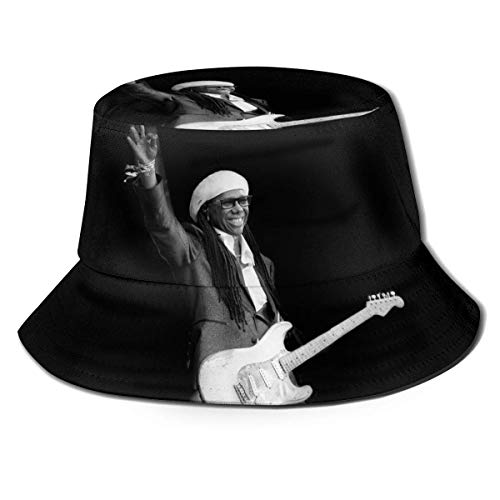 LianLiYa - Sombrero de pescador transpirable Chic-Nile Rodgers unisex al aire libre estampado casual de pescador sombrero de viaje sombrero de playa negro