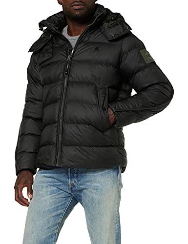 G-STAR RAW G-Whistler Padded Hooded Chaqueta, Black (dk Black B958-6484), L de los Hombres
