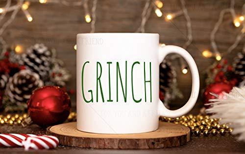Grinch Mug | Christmas Mug | Rae Dunn Inspired Mug | Grinchy Things | Funny Christmas Mugs | Grab Bag Gifts | Stocking Stuffer