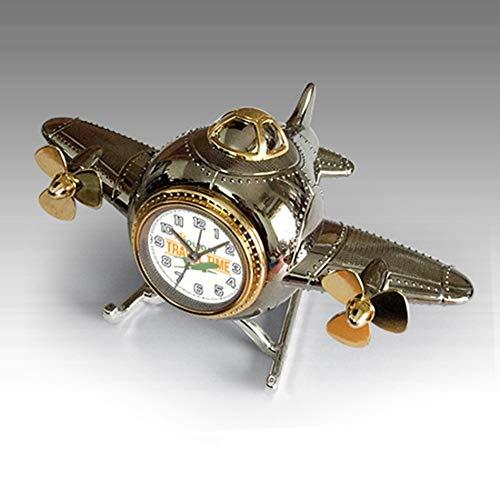 CHUSHENG Creativo Retro Modelo De Avión Hucha Reloj