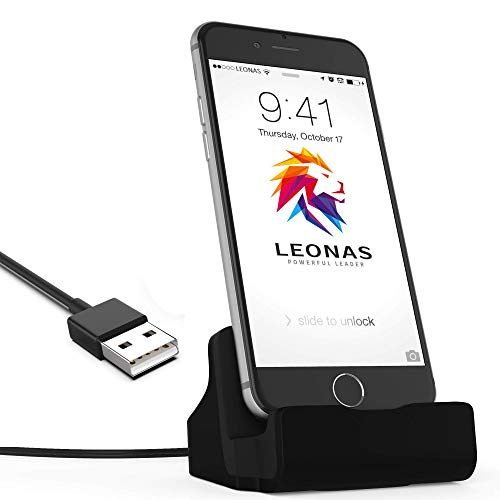 Amarion - Ladestation Ladegerät Dockingstation Ladekabel Dock inkl. 1m Kabel kompatibel für iPhone 12, 12 Pro, 12 Pro Max, 11, 11 Pro, 11 Max, XR, XR Max, X,8, 8 Plus, 7, 7 Plus, UVM.