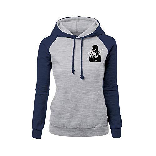 OENKIKIN DJ Avicii Pullover Herbst-Winter-beiläufiges Vogue-Normallackdruck-Mode-Hoodies-Sweatshirt Unisex (Color : Grey02, Size : M)
