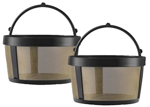 GoldTone Reusable 4 Cup Basket Mr. Coffee Replacement Coffee Filter with Mesh Bottom - Mr. Coffee Permanent Coffee Filter for Mr. Coffee Maker and Brewer - 2 PACK
