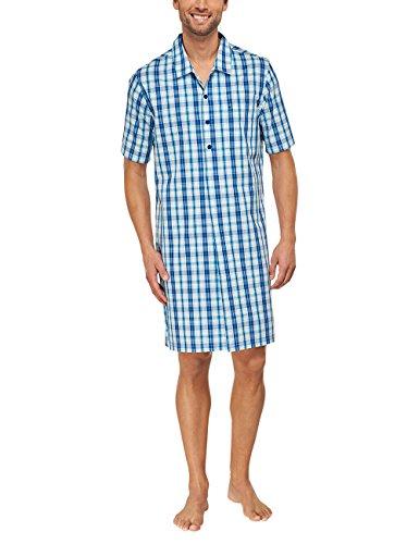 Seidensticker Herren Nachthemd 1/2 Schlafanzugoberteil, (blau 800), Small (Herstellergröße: 48)