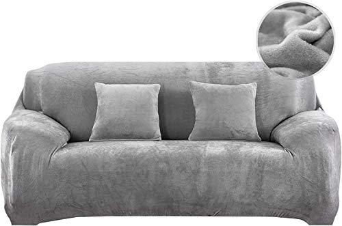 Pengmai Funda elástica para sofá de 1/2/3/4 plazas, de terciopelo grueso, elástica, antideslizante, protección de muebles