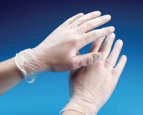 Vinyl Powder Free Clear Examination Gloves latex free and comfortable to wear Large