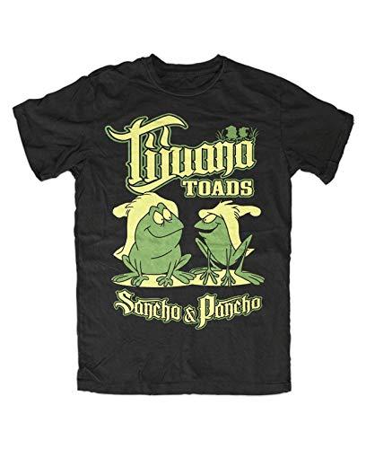 Tijuana Toads T Shirt Mens Summer Fashion Tee Shirt, Schwarz Kult,Frösche,Frog,Fun,Sancho,Pancho,Oldschool,TV