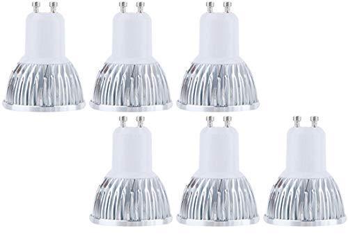 Bulbright Bombillas LED GU10 6000K Blanco Frio 9W 800 Lúmenes Equivalente 80W Halógena. 60 ° Luz Blanca Fría Lámpara LED, Pack de 6 (Blanca Frio 6000K)