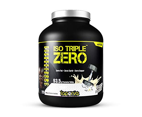 Laperva ISO Triple Zero Next Generation Premium Whey Protein Isolate Zero Carb, Zero Fat, Zero Sugar -whey Protein Powder for Weight Loss and Muscle gain - 5LBS (Vanilla)