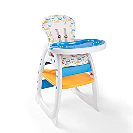 Bable Multifunctional Baby High Chair, Toddler Chair, Learning & Playing Table with Removable Tray and Backrest