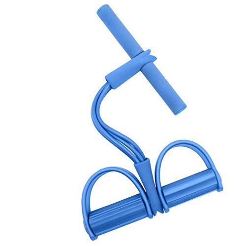 aixu Tirador De Pedal De Cuerda De Tensión Multifunción Ejercitador De Piernas Rally De Yoga para Fitness Azul