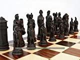 Berkeley Chess Roman Ornamental Chess Set (Cream and Brown, Board Not Included)