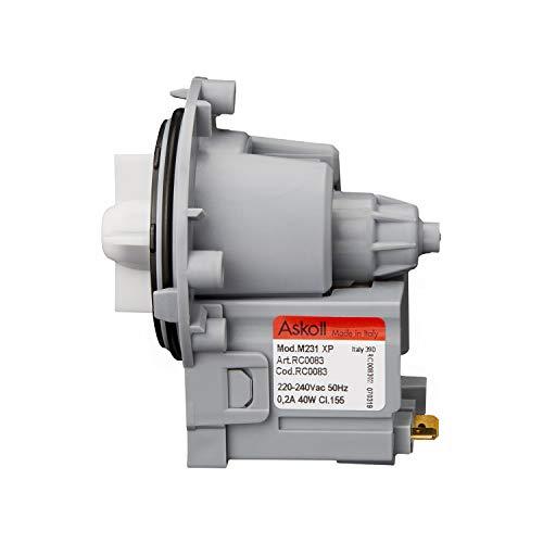 MIRTUX Bomba de Desagüe Universal magnética para diferentes Modelos de Lavadoras: LG, Otsein, Samsung, Zanussi, Corberó, Gorenje y Askoll.