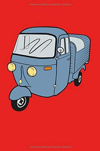 APE Vespa Vespacar Italienischer Kleintransporter: Notizbuch oder Tagebuch mit 120 Seiten (6x9 inches)