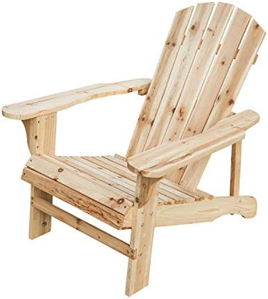 Best PatioFestival Wood Adirondack Lounger Chair,Outdoor Fir Unpainted Wooden Chairs,Accent Furniture for