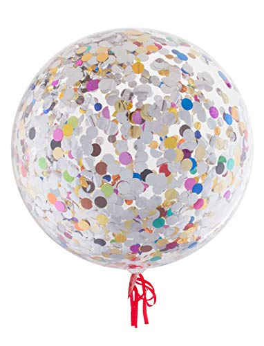 TrendClub100® Geschenke Luftblasen Luftballon Ballon – Bubble mit Konfetti Mix – 18' 46 cm