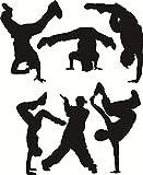 wandaufkleber 3d Wandtattoo Wohnzimmer Breakdance Hip Hop Rave Musik Tanz Bboy Auto Laptop Aufkleber Wohnzimmer Tanzraum Mädchenraum