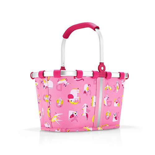 Reisenthel carrybag XS kids abc friends pink Borsone 34 centimeters 5 Rosa (Abc Friends Pink)