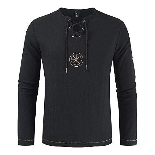 NOBRAND Casual Shirt heren shirt lange mouwen korte mouw verstelbare katoenen linnen effen kleur heren shirt