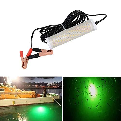 Luces de Barco Pesca luz SMD5050 LED Submarino señuelo Buscador de lámpara atrae Gambas Calamar Krill de la lámpara 12V 20W (Color : White)