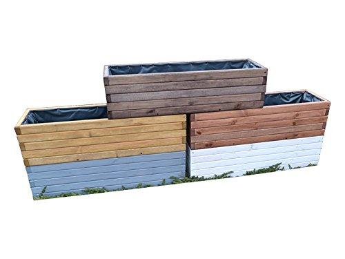 Kena D-3 Garden - Fioriera in legno di alta qualità, lunghezza 60 80 100 cm (palissandro, 100)