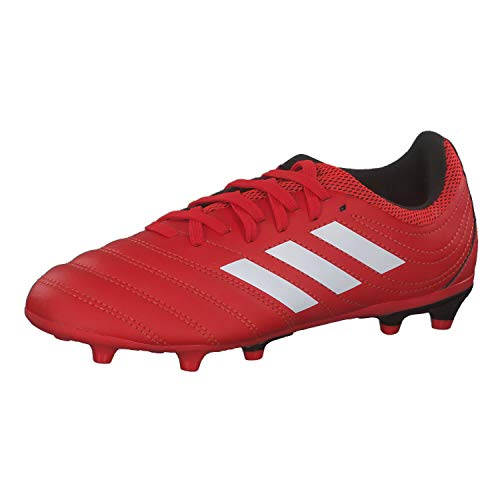 adidas Boys Copa 20.3 (FG) Football Shoe, Active Red/Footwear White/Core Black, 33 EU