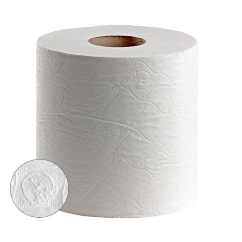 Bobina secamanos papel mecha doble capa, 135 metros, pack 2 unidades