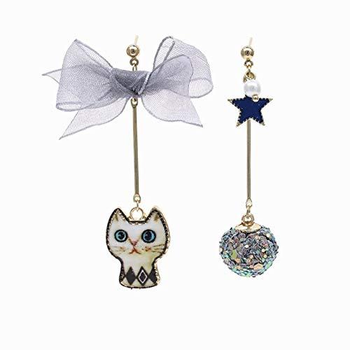 Asymmetrical Star Moon Earrings Women Fashion Korean Temperament Earring Long Personality Ear Exquisite Earrings,32