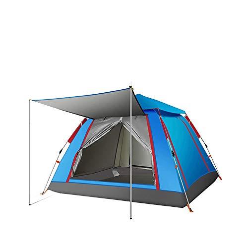XIANGZHI Volledig Automatische Verdikking Regendichte Draagbare Camping Tent, 4-pers. Tent, 3 Seconden Snelle installatie, Voor Camping Outdoor Wandelen Trip