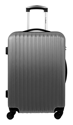 Blue Star Large Florence-A Suitcase, 70 cm, 91 L, Silver (Silver) - BD-5966