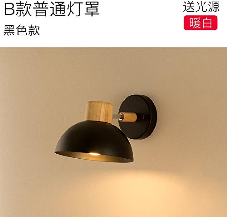 StiefelU LED Wandleuchte nach oben und unten Wandleuchten Schlafzimmer Wand lampe Nachttischlampe vogel Wohnzimmer lesen Kinderzimmer, B) Normale schwarze Lampe Abdeckung
