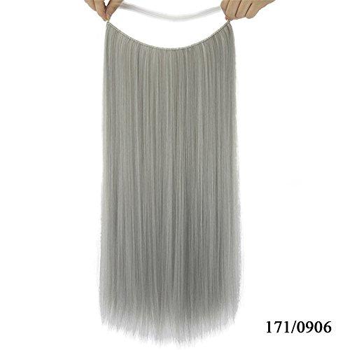 Sythetic droites Extensions de cheveux Halo – Remeehi fils Style sans clip Sans Bande 28 cm Poisson Ligne extension 61 cm 80 g (17/0906)