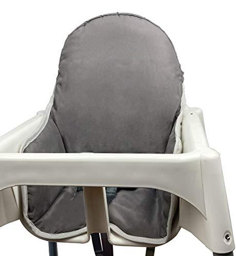 ZARPMA Sitzauflagen Kissen für IKEA Antilop Hochstuhl Waschbar Faltbar Baby Hochstuhl Bezug IKEA Kinderstuhlkissen