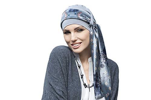 Yanna Chemo Headwear para mujeres con caída de cabello, gorra de bambú para el cáncer, turbante de cabeza
