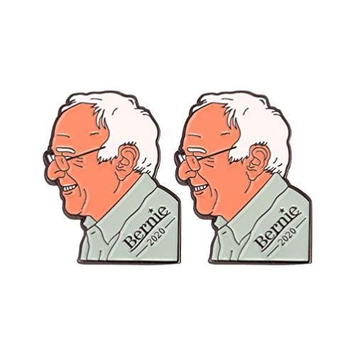 Happyyami Präsident Wahl Brosche Bernie Sanders Broschen Unterstützung Stütze für Mann Frau 2St