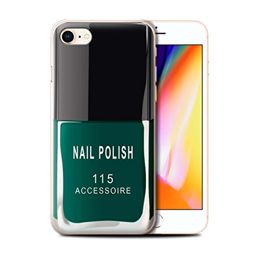 Telefoonhoesje voor Apple iPhone SE 2020 Nagellak/Make-Up Groen Ontwerp Transparant Helder Ultra Slank Dun Hard Back Cover
