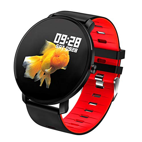 APCHY Reloj Inteligente Smartwatch,Monitores De Actividad De 1.3 Pulgadas, Deportes De Tacto Completo, Frecuencia Cardíaca, Presión Cardíaca, Monitoreo del Sueño, Correa De Silicona,C