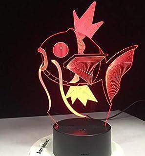 Pokemon Go Mimikyu Ho-Oh Purrloin Magikarp Raikou Rayquaza Prinplup Politoed lugia Lámpara 3D de dibujos animados Decoración LED Luz de noche