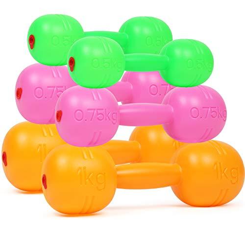 TeganPlay Hand Weights Dumbbells Set for Kids Barbell Fitness Exercise...