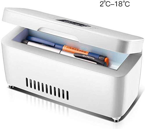 Iconische koeler, draagbare medicijnkoelbox, slimme koelkast met vriesvak 2-18 graden; C voor thuis, in de auto, op reis