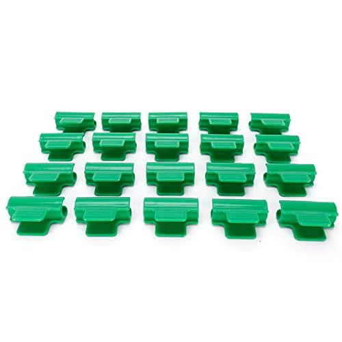 Shanrya Hebillas de Cobertura de Plantas, Clip de película de Invernadero Material plástico Resistente a la corrosión Hebilla de película de plástico Resistente Durable para película Fija para